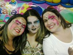 Folia Festa: Pintura Facial de Borboleta, esquelita (Monster hi...