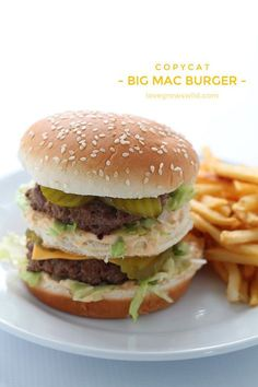 This copycat recipe makes the perfect Big Mac Burger! Extra meaty and loaded with a homemade special sauce!