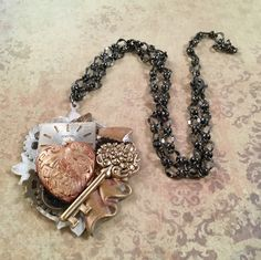 A personal favorite from my Etsy shop https://www.etsy.com/listing/473712384/steamunk-heart-assemblage-necklace