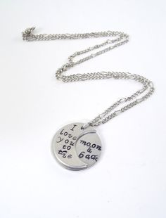 I Love You To The Moon And Back Hand Stamped by Kre8vStudioz