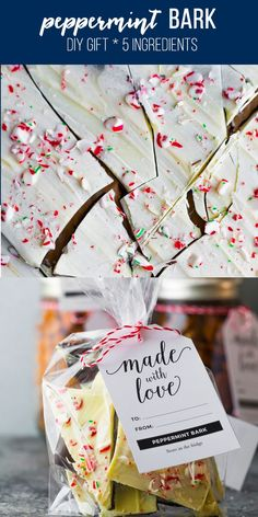 This easy peppermint bark recipe is the perfect party treat or DIY Christmas gift! Just four ingredients, and so simple to make. easy peppermint bark, white chocolate peppermint bark, christmas peppermint bark #sweetpeasandsaffron #christmas #gift #diygift via @sweetpeasaffron Big Christmas Tree, Christmas Favors, Christmas Candy, Christmas Desserts, Christmas Cookies, Diy Christmas, Christmas Decorations, All You Need Is, Sweets Recipes