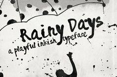 Rainy Days - a Playful typeface by Anna Ivanir on @creativemarket