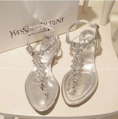 Drop shipping!2014 New Roman sandals rhinestone thong elastic beaded flat shoes \Women shoes-in Sandals from Shoes on Aliexpress.com