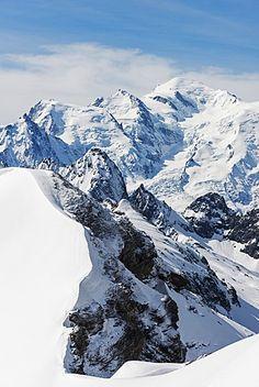 Mont Blanc from Mont Buet, Chamonix Valley, Rhone Alps, Haute Savoie… France Europe, France Travel, Machu Picchu, Beautiful World, Beautiful Places, Mount Everest, Chamonix Mont Blanc, Fantasy Places, French Alps