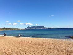 Playa de Getares en Algeciras, Andalucía