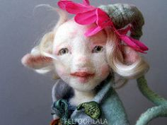 Moss (FELTOOHLALA) Tags: pink portrait flower art wool felted woodland spring doll felting felt pixie needlefelting artdoll fiber wonderland baba laine needlefelt feutre needlefelted man feutr nemez nemezbaba feltoohlala laurencebergeotverb