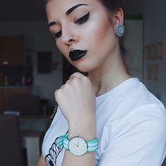'Beauty, to us, is about being comfortable in your own skin. That, or a kick-ass black lipstick' - @so.jaded with our MAURïNO 'Villanova' #mymaurino Get your MAURïNO watch now at www.onemaurino.com