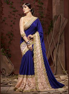 Indian Designs - Exquisite Plain Pallu Saree in Royal Blue, $90.00 (http://www.indiandesigns.com/exquisite-plain-pallu-saree-in-royal-blue/)