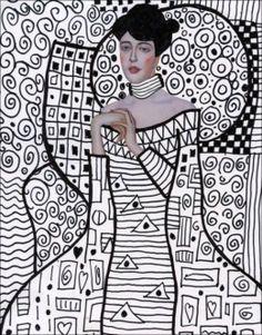Klimt Line Art