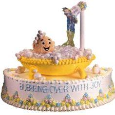A Splashy Debut Cake