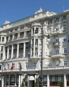 Dating to 1911, the Savoia Excelsior is a grand palace hotel on Trieste's stately esplanade. #Jetsetter