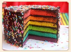 Rainbow Wedding Cake | Better Homes Cakes :: Products :: Cakes