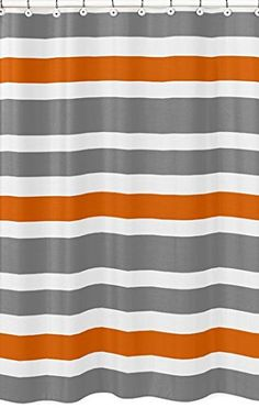 Find This Pin And More On House Ideas Modern White Gray And Orange Stripe Bathroom