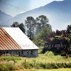 Rural America Photo Print. Landscape Photography Print. Barn Print. Square Format Photo Print Framed Print or Canvas Print. Home Decor.