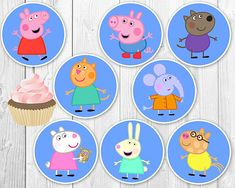 Peppa Pig Cupcake Toppers, Peppa Pig Circle Labels 3-INCH, Peppa Pig Party Decoration, Peppa Pig Printables - INSTANT DOWNLOAD ALL CHARACTERS INCLUDED! INSTANT DOWNLOAD! Get your download immediately after purchase. ►ABOUT THIS LISTING - This is an Instant Download, no more waiting! -