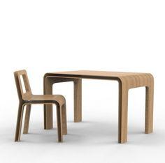 SKIN desk - designed by julien Vidame #table #desk #wood #bois #oak #chene #doubleskin #doublepeau #ouvert #open #aerien #aerial #julienvidame #vidamestudio #newproject #nouveauprojet #rennes #bretagne #designer #productdesign