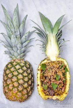 riso saltato con ananas pancetta e porro