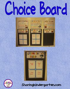 Daily 5 choice board