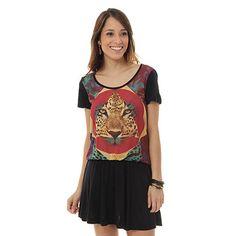 Vestido Onça Ellus 2nd Floor 15SN093 - Preto - Passarela.com
