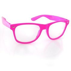 80's Pink Glasses - only $2.95!  Available with dark lenses too