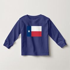 Toddler Texas Flag Long Sleeve Tee Shirt - toddler youngster infant child kid gift idea design diy