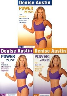 Denise Austin Power Zone Vol Cardio/Toning/Abs Workout Pack) Toned Abs Workout, Metabolic Workouts, Denise Austin, Austin Powers, Workout Dvds, Boost Metabolism, Cardio, Action, Hot