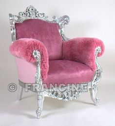 pretty pink chair...this could work for me! ;} #pretty pink