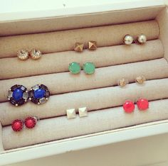 It's the simple things. All studs $24 from Stella & Dot.