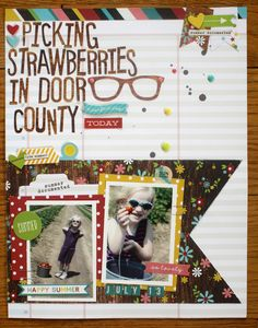 Picking Strawberries by Emily Spahn - Scrapbook.com - Layout made with Simple Stories Good Day Sunshine collection.