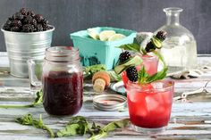 Lime Blackberry Shrub, plus an incredible list of links to other #DrinkTheSummer libations!