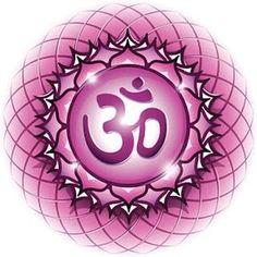 Chakra Symbol The Sahasrara Chakra in the middle of a 7 Chakras, Chakra Symbols, Om Symbol, Qigong, Yin Yoga, Mandala, Hanuman, Filofax, Shiva