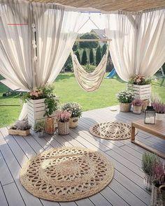 Outdoor Living Rooms, Outdoor Spaces, Living Spaces, Backyard Patio Designs, Cool Backyard Ideas, Patio Ideas On A Budget, Small Backyard Design, Porch Ideas, Outdoor Gardens