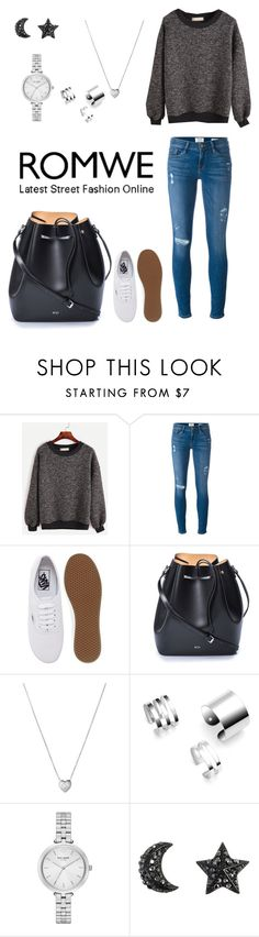 """""""Romwe"""" by cherryblossoms19 ❤ liked on Polyvore featuring Frame Denim, Vans, N°21, Links of London and Kate Spade"""