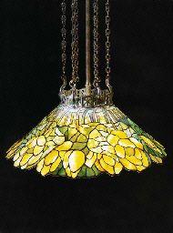 'Lotus' Leaded G;ass and Bronze Chandelier Tiffany Studios Tiffany Chandelier, Bronze Chandelier, Chandelier Lamp, Crystal Chandeliers, Ceiling Lamps, Pendant Lamps, Pendant Lights, Louis Comfort Tiffany, Antique Lamps