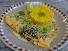Cuisine en folie: Filets de truite au curry rouge et riz au curcuma