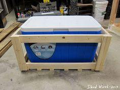 outdoor wood cooler stand, rustic, pinterest