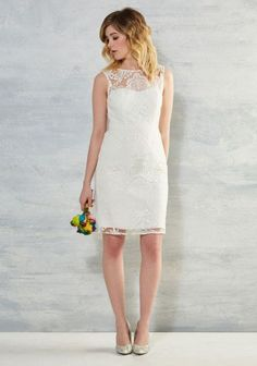 Every Vow and Again Lace Dress in White