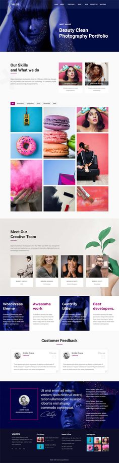VAUSS is a premium WordPress theme for Portfolio and Personal Services, responsive, high-performance Portfolio and Personal WordPress Theme with a modern creative design to delight a multitude of creative users for building their websites.