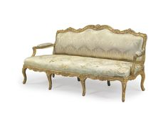 c1740 A LOUIS XV GILTWOOD CANAPE   CIRCA 1740   Price realised   USD 30,000
