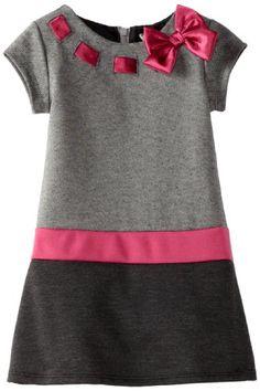 Youngland Girls Colorblock A-line Dress, Grey Multi, Stylish Dresses For Girls, Dresses Kids Girl, Little Girl Outfits, Little Girl Dresses, Kids Outfits, Baby Outfits, Baby Dresses, Baby Girl Dress Patterns, Baby Dress Design