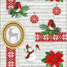 Decoupage Napkins 13 inches Decor #436-1 33 cm Paper-Craft and Collage 2 Single  Paper Napkins for Decoupage