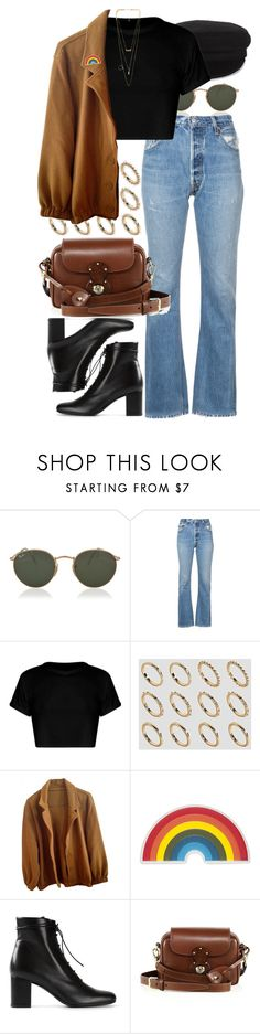 """""""Untitled #11402"""" by nikka-phillips ❤ liked on Polyvore featuring Étoile Isabel Marant, Ray-Ban, RE/DONE, ASOS, American Apparel, Anya Hindmarch, Yves Saint Laurent, Ralph Lauren and NLY Accessories"""