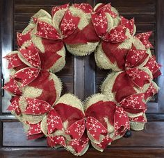 Christmas Snowflake Burlap Wreath