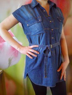 Jeans skirt from shirt.