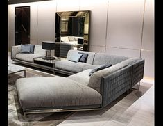 Nella Vetrina Visionnaire IPE Cavalli Legend Sectional in Upholstered Leather