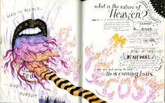 John Hendrix - Drawings in Church Sketchbook Inspiration, Art Sketchbook, John Hendrix, Book Illustration, Illustrations, Artist Journal, Lettering Styles, Contemporary Artists, Book Design