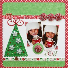 Queen & Co. Christmas Joy #scrapbooking #inspiration #christmas #washitape