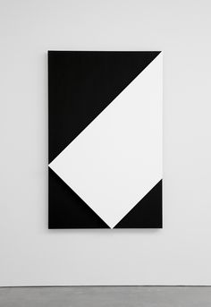 Ellsworth Kelly, White Relief over Black 2013 Oil on canvas, two joined panels 70 1/8 x 45 inches; 178 x 114 cm #abstractart