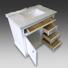 Image Gallery For Website Milan Collection White Bath Vanity inch x inch Door Drawers
