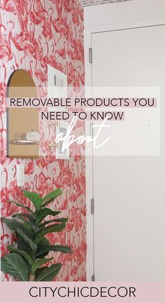 These Are the Removable Products You Need to Know About - City Chic Decor Studio Apartment Decorating, Rental Decorating, Decorating Your Home, Cheap Home Decor, Diy Home Decor, Room Decor, Removable Wallpaper For Renters, Removable Backsplash, Home Decor Paintings